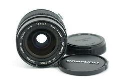 OLYMPUS OM-SYSTEM ZUIKO MC AUTO-W 24mm F/2 MF Lens free shipping JAPAN