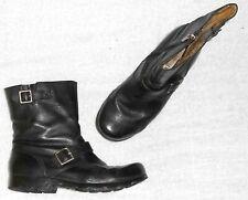 PALLADIUM bottines plates zippées cuir noir P 38 TBE