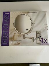 Jerdon Jp7504Cf 8 inch Wall Mount Makeup Mirror with 4x Magnification