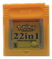 22 in 1 Multicart GBC Game Boy Color w/ Case Pokemon Red Yellow Harvest Moon