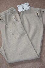 St. John Sport Marie Gray Oatmeal Tweed Heavy Knit Pants Slacks Drawstring Sz P