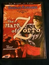 The Mark of Zorro (Silent Movie) Douglas Fairbanks DVD With Foldable Poster