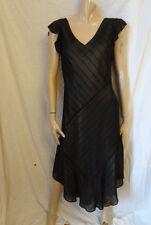 (257FEB) Size 8 *VIYELLA* Chic long black silky evening dress ladies/women