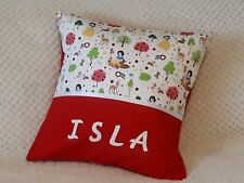 SNOW WHITE -  Girls Personalised Name Character Cushion Cover / GIFT IDEA