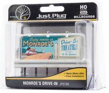 HO Scale Woodland Scenics JP5794 Monroe's Drive-In Movie Lighted Billboard