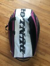 Pink, black, and white Dunlop Sport Biomimetic Tennis Bag