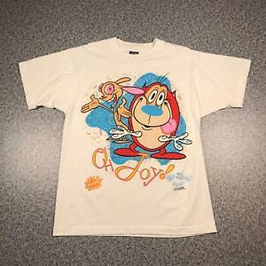 1991 Vintage THE REN & STIMPY SHOW T Shirt L | Single Stitch 50/50 Screen Stars