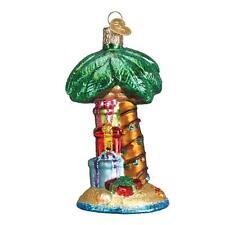 CHRISTMAS PALM TREE PRESENTS OLD WORLD CHRISTMAS GLASS BEACH ORNAMENT NWT 48037