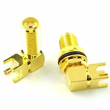20 mm SMA Female Jack Panel Mount PCB Solder Adapter Connector Pack of 2