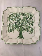 Plate Partridge In A Pear Tree Italian Hand Painted Ceramic Square