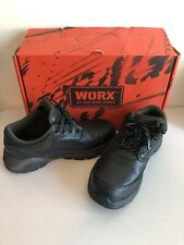 Worx Oxford Tie Womens Work Slip Resist Steel Toe Shoes Black Red Wing Size 6 M