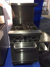 """NEW HEAVY 24"""" RANGE 4 BURNERS WITH 1 SPACE SAVER OVEN STOVE  NATURAL GAS ONLY"""