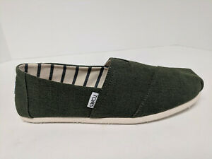 Toms Classic Slip-On Shoes, Pine Heritage Canvas, Mens 9 M