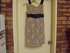 Jacqui E Knee Length Lace Dress - Wedding, Races, Party sz 6