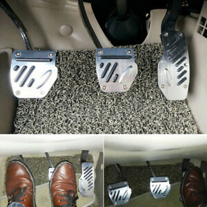 3PCS Car Truck Accelerator Pedal Foot Pedals Pad Cover For Brake Clutch Non-slip