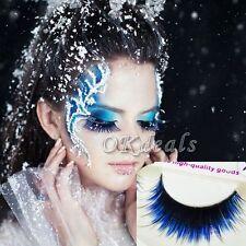 1Pair Pro Fashion Long Blue Black False Eyelashes Beautiful Makeup Eye Lashes