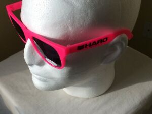HARO BMX PINK* WAYFARER STYLE SUNGLASSES - NEW - LIMITED EDITION HARO W/ CHEVRON