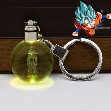 Dragon Ball Z Son Goku 3D Boule de Cristal Lumière Veilleuse Porte Clés Cadeau