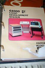 HP 64000 Logic Development system editor reference  Manual 64980-90911