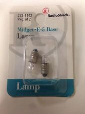 Midget • E-5 Base lamp #272-1142 By RadioShack