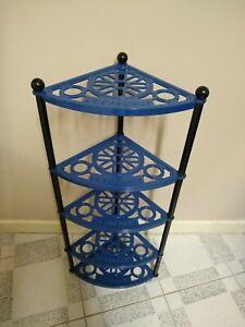 Le Creuset Blue Enamel Cast Iron Five Tier Shelves Saucepan Pot Pan Rack Stand