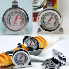 Oven Thermometer Stainless Steel Stand or Hang Temperature Control Cooker Gauge