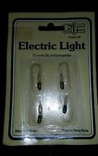 Miniature House: Electric Light 12 Volts 60 milliamperes (4-pack) Bulbs #611