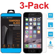 Premium Real Screen Protector Tempered Glass for iPhone 6 6s 7 Plus Cleaning Wipe Set