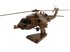 Sikorsky Navy MH-60R SH-60R Romeo Seahawk Military Helicopter Wood Wooden Model