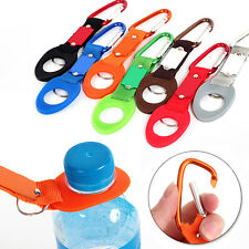 Carabiner Water Bottle Buckle Hook Holder Strap Clip Camping Outdoor Trave DE