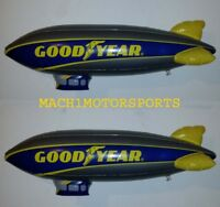 """NEW Pair of GOODYEAR Inflatable BLIMP 33"""" WINGFOOT 1 Scenery Scalextric LIONEL"""
