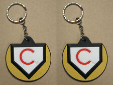 CHICAGO CUBS Home Plate Key Chain Lot of 2 Officially Licensed NEW