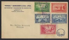 NICARAGUA 1939 US AIR MAIL MANAGUA COVER WITH WILL ROGERS COMMEMORATIVE SET