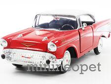 MOTORMAX 73228 1957 57 CHEVY BEL AIR HARD TOP 1/24 DIECAST RED