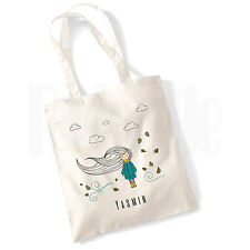 Personalised 'Autumn GirlI' Canvas Tote Bag GIFT FOR GIRLS LADIES WOMEN