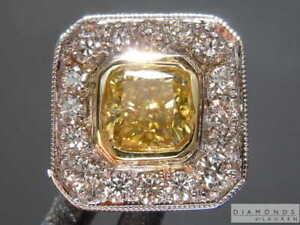 .40ct Yellow SI2 Radiant Cut Diamond Tie Tack R7550 Diamonds by Lauren