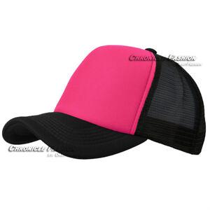 Trucker Hat Foam Mesh Baseball Cap Snapback Adjustable Plain Blank Men Caps Hats