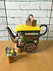Ringtons Tea Merchant Teapot + Tea Chest Sugar Bowl Cardew Designs No 373/7,500