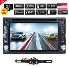"6.2"" Touchscreen Double 2Din In Dash Car Stereo Radio GPS CD DVD Player+ CAM  US"