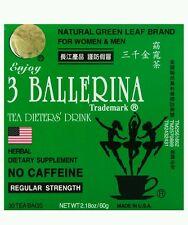 Authentic 3 Ballerina Dieters Drink Regular Strength Diet Slim Tea 30 Tea Bag