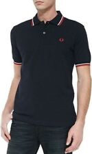 Designer Fred Perry Polo Shirt (Men's Large) Navy Blue (New & unopened)