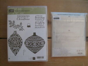 Stampin Up EMBELLISHED ORNAMENTS Stamps & Matching DELICATE ORNAMENT Thinlits!!