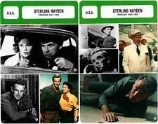 FICHE CINEMA x2 : STERLING HAYDEN DE 1941 A 1983 - USA (Biographie/Filmographie)