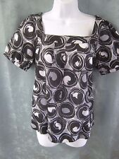 New York and Company Top Size Small 100% Cotton Pullover Peasant Sheer