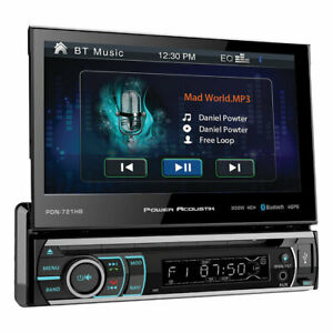 """Power Acoustik PD721B 7"""" Single Din Receiver With Bluetooth"""