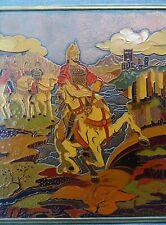 DAVID BEK TRAVAIL RUSSE AUX EMAUX/CUIVRE CAVALIERS GUERRIERS ARMENIENS XVII