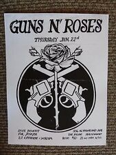 Guns & Roses Early Jan 21 The Probe Benefit Show Concert Flyer Poster Copy #15