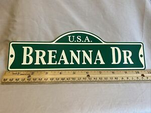 Green Street Room Sign Personalized  ~ USA  Breanna DR ~ Stocking Stuffer ~