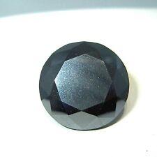 Huge  Spectacular  9.80 ct Top Quality Genuine BLACK DIAMOND 13.72 mm  Gemstone