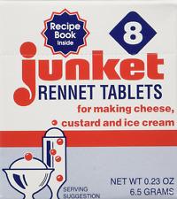 One Box of 8 Junket Rennet Tablets net wt 0.23 oz